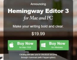 hemingway editor pricing plans
