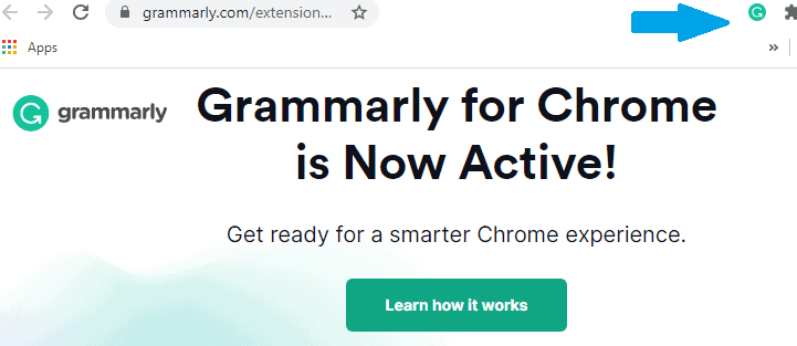 grammarly active on chrome