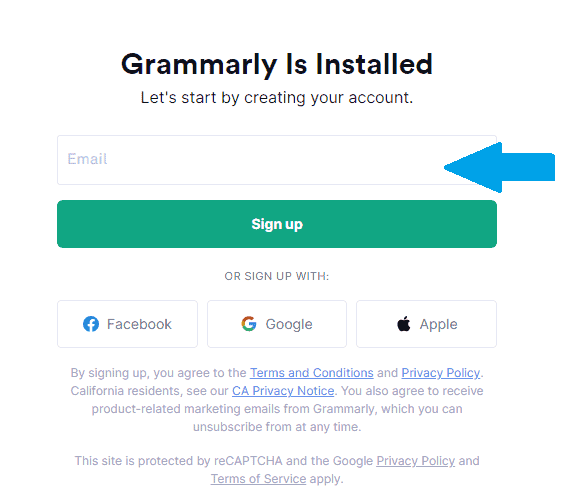 grammarly sign in